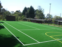 synthetic tennis court construction - example