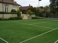 tennis court built for private use